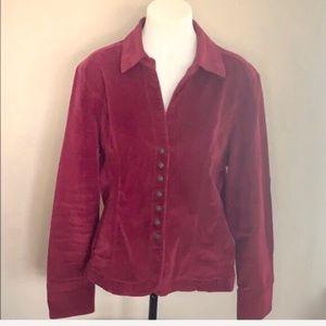 DRESSBARN Red Button Up Jacket XL EUC